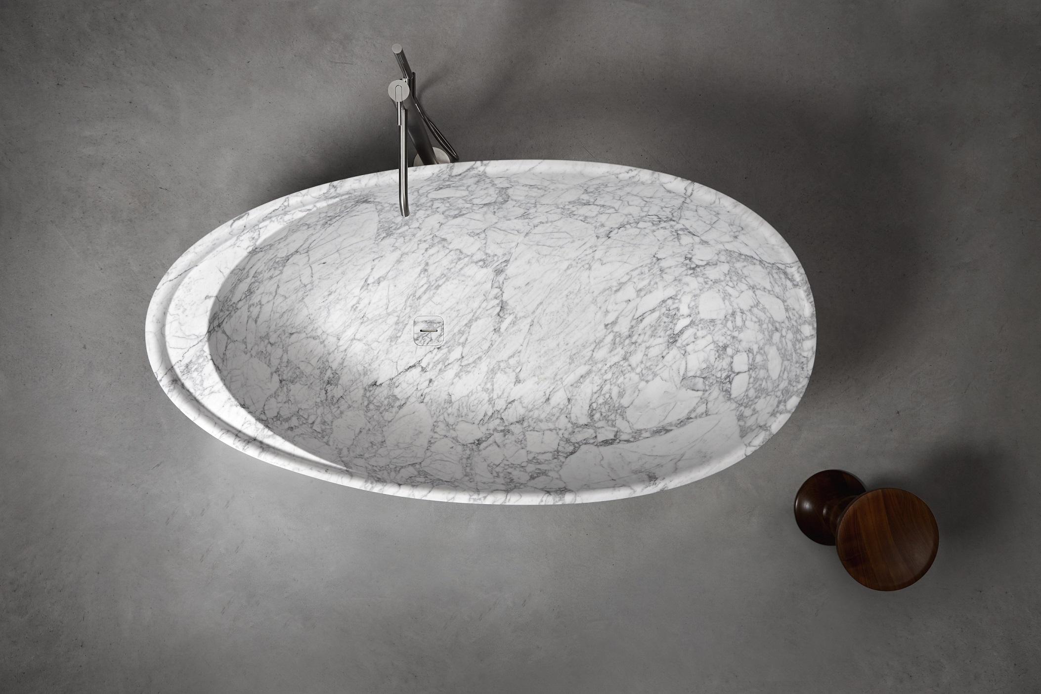 Vasca Da Bagno Marmo : Bagno marmo ciotola vasca da bagno da appoggio by vaselli marmi
