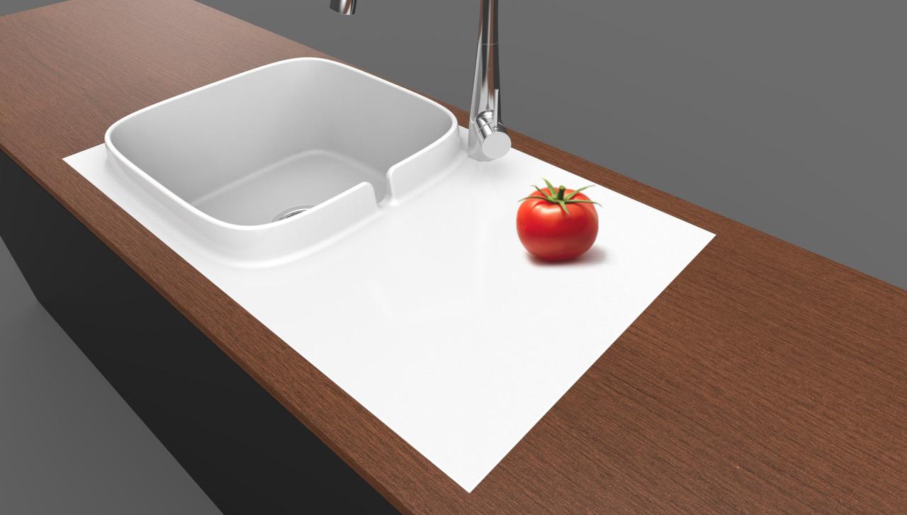 Scarabeo presenta il primo lavello da cucina \