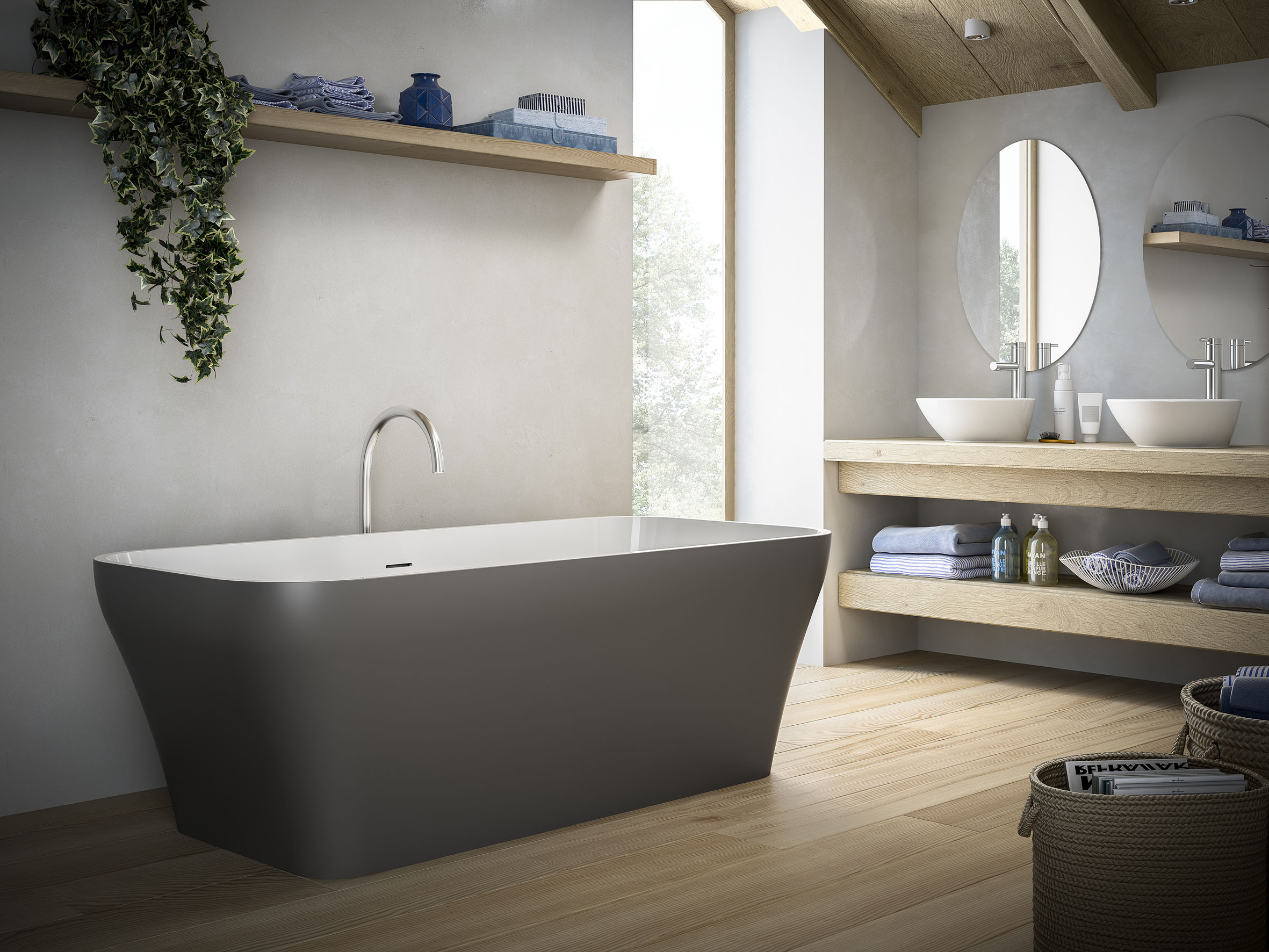 Vasca Da Bagno Freestanding Offerta : Le nuove vasche di glass bagno italiano