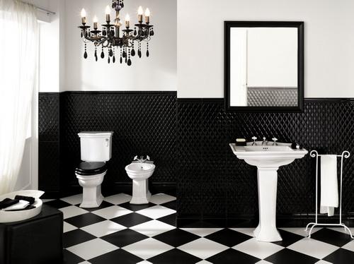 Impronta ceramiche presenta bianco nero bagno italiano blog