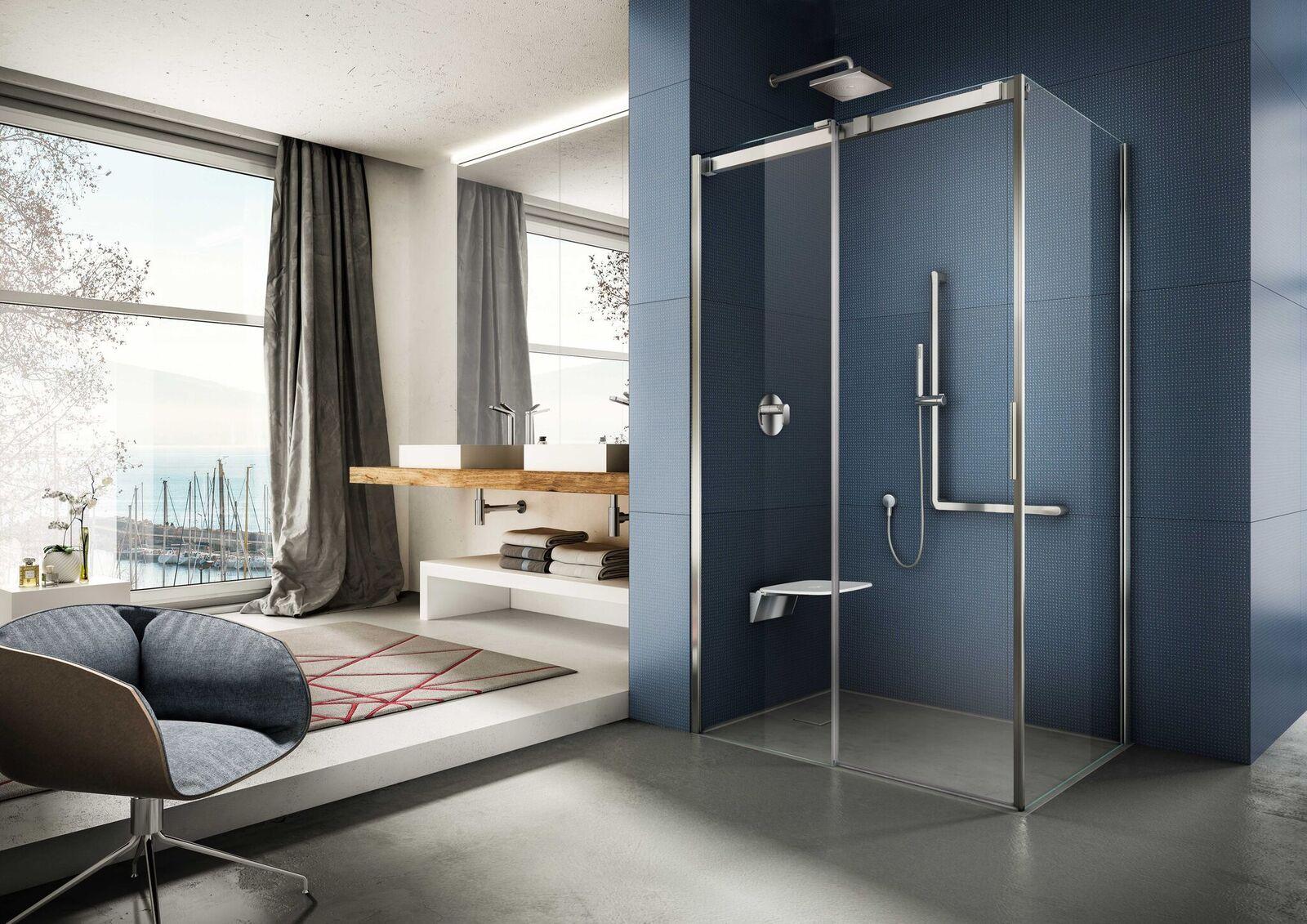 Linea soft di provex: cabine doccia con porte scorrevoli bagno