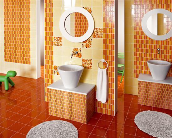 Piastrella ceramica mosaico jet set cedir bagno italiano