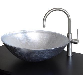 Lavabo in vetro argento frontale 2 Scont - Bagno Italiano Blog