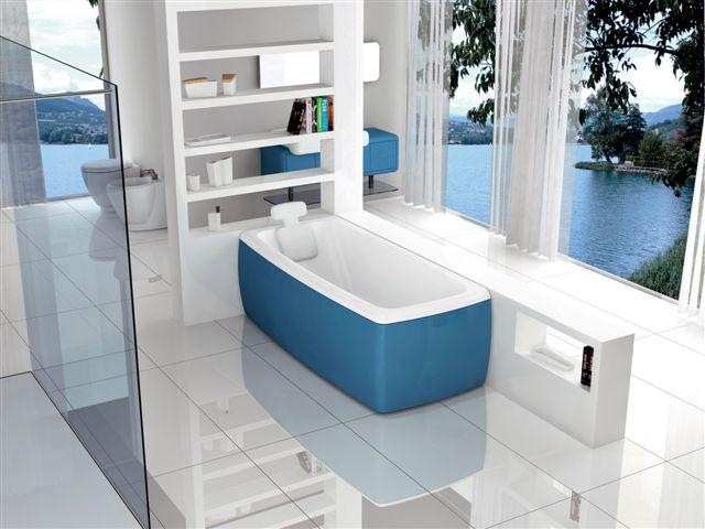 bagno blu mosaico di giacomo pavimenti. bagno moderno ...