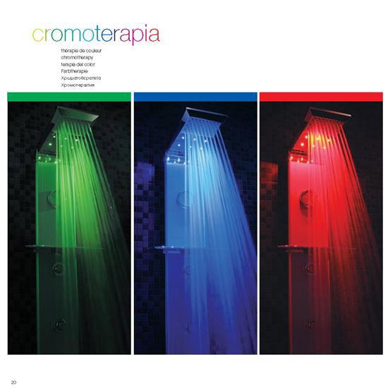 CROMOTERAPIA A LED - PANNELLI DOCCIA CROMOTERAPIA - Bagno ...