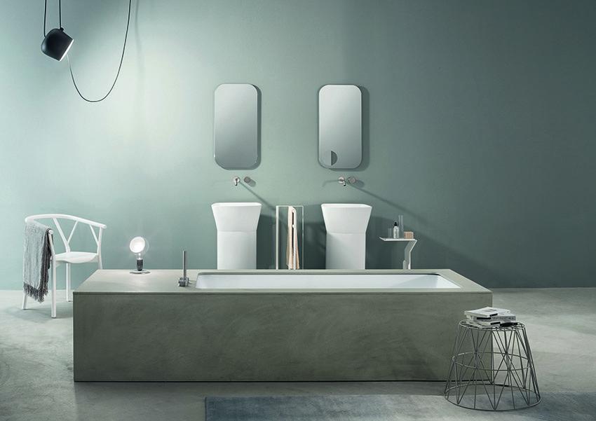 Vasca Da Bagno Wave : Wave la vasca in ecocemento by makro bagno italiano