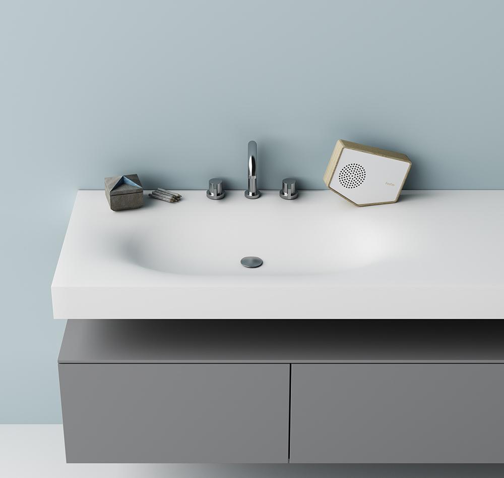 Piano Lavabo In Corian lavabo moby in dupont™ corian® termoformato curve sinuose e