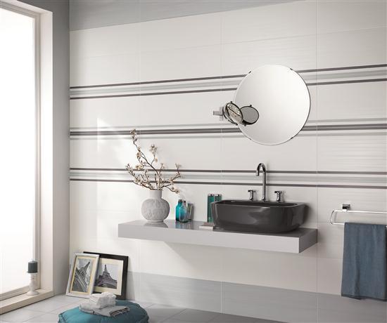 Bagni prestigiosi con la nuova collezione dress up di - Finitura piastrelle bagno ...